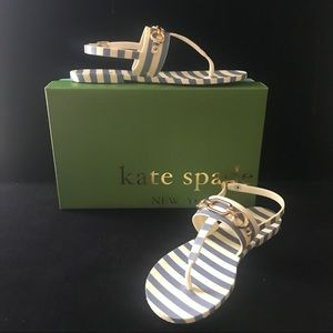 Kate Spade New York Polly 7 M Sandals Blue Cream